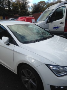 Windscreens Tamworth windscreen replacement Tamworth Seat Leon with rain sensor after